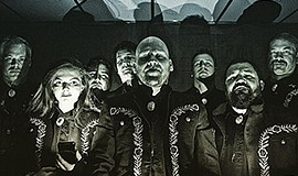A promotional photo of the band Mariachi El Bronx.