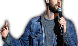 Promotional photo of comedian Brooks Wheelan.