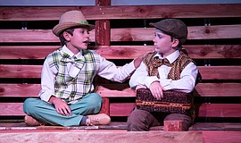 "Actors in OB Playhouse's production of ""A Year with Frog and Toad."" Photo cre..."
