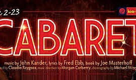 "A promotional poster for Ion Theatre's ""Cabaret."""