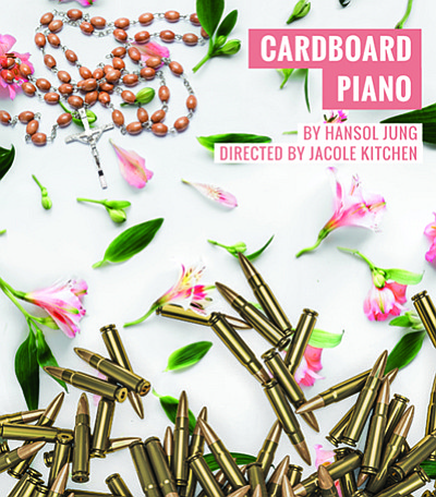 "Promotional flyer for ""Cardboard Piano."" Courtesy of Dive..."