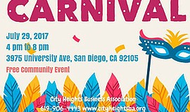 Promotional graphic for the Community Carnival. Courtesy of the City Heights ...