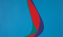 A photo of a painting by Lorser Feitelson, courtesy of MCASD.