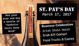 Promotional graphic for St. Pat's Day at O'Sullivan Bros. Brewing Co.