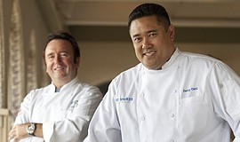 Promotional photo of Executive Chef Bernard Guillas and Chef de Cuisine Percy...