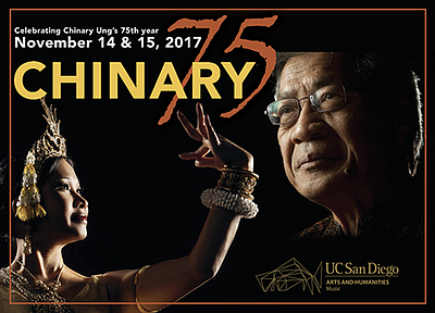 A promotional poster for Chinary 75, courtesy of UC San Diego Department of Music.