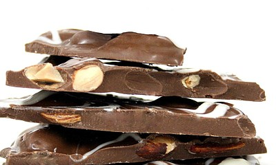Promotional photo of chocolate bark. Courtesy of The Curious Fork.