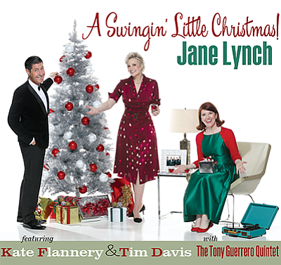 "Promotional graphic for ""A Swingin' Little Christmas."" Co..."