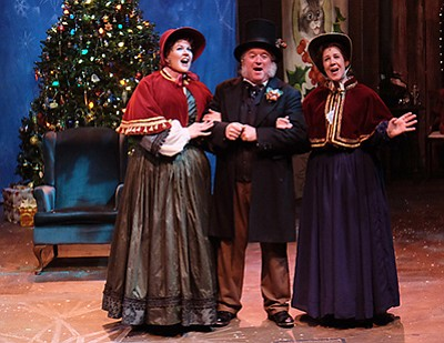 """Photo from a previous performance of """"A Christmas Carol."""" Courtesy of Cygnet Theatre."""