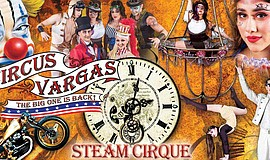 Promotional graphic for Circus Vargas.