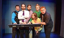 "The cast of ""aChording to Us."" Courtesy of National Comedy Theatre."