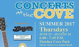 Promotional flier for the Concerts at the Cove series.