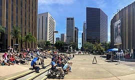A photo from Opera on the Concourse, courtesy of San Diego Opera.
