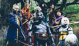 "Photo of cast members of the Dungeons and Dragons show ""Critical Role,"" which..."