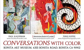 "Promotional graphic for ""Conversations with Color."""