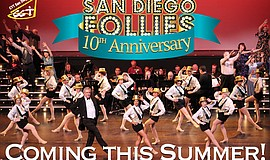 "Promotional graphic for the 10th Annual ""San Diego Follies."""