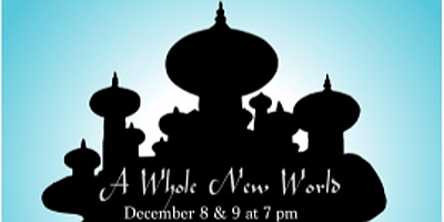 "A promotional poster for CoSA's ""A Whole New World."""