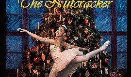 "A promotional poster for Chula Vista Ballet's ""Nutcracker."""