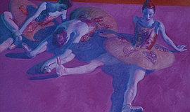 "Three Dancers at Rest, 2013, Oil on Canvas, 26"" x 36"""