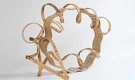 A photo of Richard Deacon, Dancing in Front of My Eyes, 2006. Wood, aluminum....
