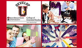 Promotional photos for SDSU's DevelopU Conference.