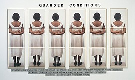 "A photo of Lorna Simpson's ""Guarded Conditions,"" courtesy of the artist and M..."