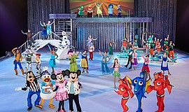 Promotional photo of Disney On Ice characters. Courtesy o...