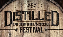Promotional graphic for Distilled: San Diego Spirit & Cocktail Festival.