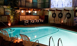 A photo of the pool at The Pearl Hotel.