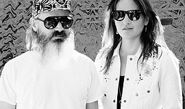 Promotional photo of Moon Duo. Photo credit: Howard Wise and Jasmine Pasquill.