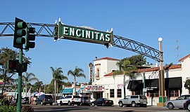 Entrance to downtown Encinitas.