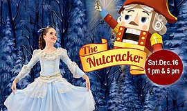 "A promotional poster for Encinitas Ballet's ""The Nutcracker,"" courtesy of the..."