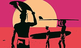 "A graphic for the film ""The Endless Summer."""