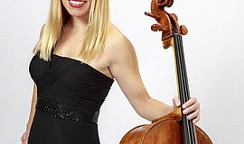 Promotional photo of cellist Erin Breene.