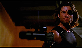 "A photo from the film ""Escape from New York."""
