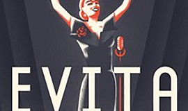 "A promotional graphic for San Diego REP's ""Evita."""
