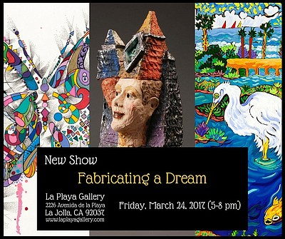 "Promotional graphic for ""Fabricating a Dream."""
