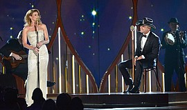 Faith Hill and Tim McGraw perform.