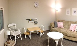 Photo of the Family Counseling Lounge at the Family Wellness Center.