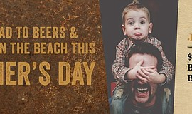 Promotional photo of a father and son for Draft San Diego's Father's Day: Bee...