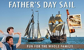 Promotional graphic for the Brats And Beer On The Bay Father's Day Sail.