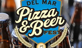 Promotional graphic for the Del Mar Pizza & Beer Festival.