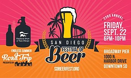Promotional graphic courtesy of the San Diego Festival of Beer.