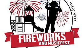 Promotional graphic for the Lake Murray Fireworks And Music Fest 2017.
