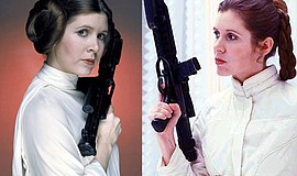 Promotional photo of Carrie Fisher courtesy of Prismatic Series.