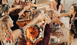 Participants at a flower crown workshop. Courtesy of Native Poppy.