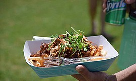 Photo of some of the food featured at the Summer Food Truck Festival. Courtes...