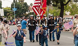 Promotional photo of the Mira Mesa 4th Of July Parade.