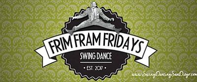 Promotional graphic for Frim Fram Fridays. Courtesy of Sw...