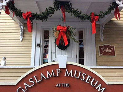 Photo of the holiday decorations at the museum. Courtesy ...